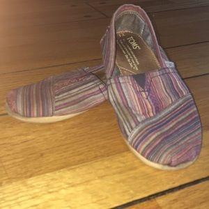 TOMS Striped Classic Alpargata Shoes Colorful